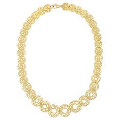 "Buccellati ""Spirali"" 18k Gold Link Necklace"