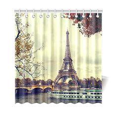 paris shower curtain | girls' bathroom ideas | pinterest | paris