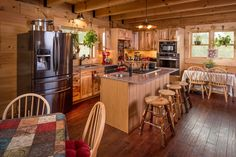 Stoneridge kitchen with hickory cabinets and granite countertops