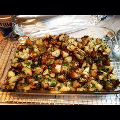 Garlic roasted sunchokes
