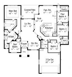 Floor plans on pinterest square feet home plans and for 2600 sq ft house plans