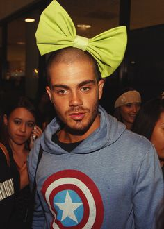 Max George with bow on head :)