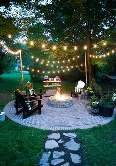 Check it out nice Brooklyn Limestone: Country Cottage DIY Circular Firepit Patio… by www.danazhome-dec… The post nice Brooklyn Limestone: Country Cottage DIY Circular Firepit Patio… by www. Fire Pit Area, Fire Pit Patio, Garden Fire Pit, Fire Pit Decor, Back Yard Fire Pit, In Ground Fire Pit, Fire Pit Seating, Patio With Firepit, Diy Fire Pit