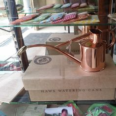"""""""What do you get the gardener with everything? How about a hand made copper watering can. Made by Haws in the UK."""""""