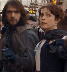 The Musketeers series 3x10. Constance hurries to tell D'Artagnan that Grimaud has been seen entering the Church. BBC