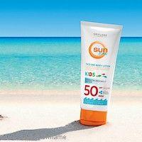 #Sun Zone #Oriflame - opalovací mléko  Dětská kůže je tenčí a křehčí než u dospělých, proto jsou děti mnohem citlivější na poškození kůže UV zářením. Řadu Sun Zone nyní nově doplnilo DĚTSKÉ OPALOVACÍ MLÉKO NA OBLIČEJ A TĚLO S SPF 50, které nabízí vysokou ochranu před UVA i UVB.  www.orif24.cz