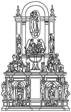 Tomba di giulio II, progetto del 1513 - Tomba di Giulio II - Wikipedia