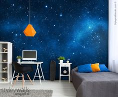 Space Mural Space Wallpaper Galaxy Mural Galaxy Wall Art | Etsy
