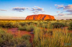 Sunset at Uluru in the Red Centre of Australia