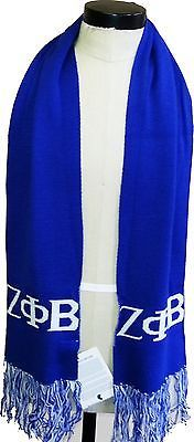 Other Unisex Clothing and Accs 167905: Zeta Phi Beta Knit Scarf [Adult - Blue] -> BUY IT NOW ONLY: $34 on eBay!