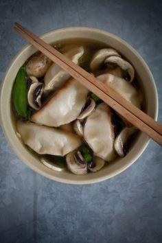 30-Day Vegan: Tofu & Pak Choi dumplings, Thai broth - Food&_ | Food, Stories, Recipes, Photography & Illustration