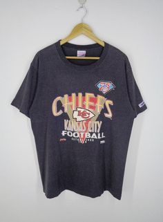 5572bf6bc69 Kansas City Chiefs Shirt Vintage Kansas City Chiefs KC T Shirt Kansas City  Chiefs American Football Vintage T Shirt Made In USA Size XL