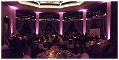 Blush-pink uplighting at The Club at Rolling Hills