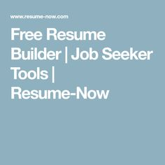 Instantly create a job-winning resume. Resume-Now's resume builder includes job-specific resume templates, resume examples and expert writing tips to help you get the job. Build A Resume, My Resume, Resume Template Examples, Resume Template Free, Find A Job, Get The Job, Free Resume Builder, Resume Design, Business Advice