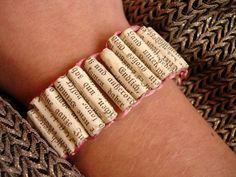 DIY paper bracelet out of book sites! Tutorial!