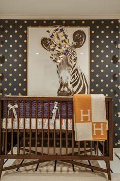 nursery with scalamandre zebra wallpaper - Google Search