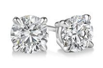 Round Four-Prong Basket Diamond Stud Earrings | Click for your chance to win a $1000 gift card from #Ritani
