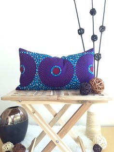 one 12 x 20 African Print Lombard Pillow Cover, throw pillow cover, couch pillow cover, home decor, decorative pillow cover, accent pillow by JuneThirty on Etsy https://www.etsy.com/listing/159308646/one-12-x-20-african-print-lombard-pillow