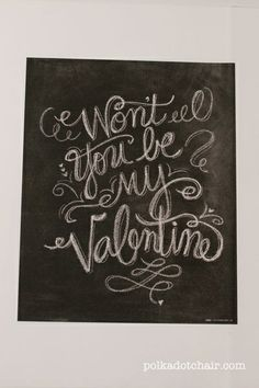 Cute Valentine's Day chalkboard design