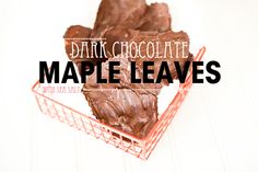 dark chocolate maple leaves with sea salt  What a great idea!