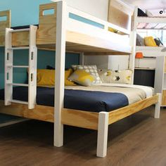 The Urban Trio Bunk beds are a ideal for holiday homes or rooms with limited for floor space. Trio Bunk Beds, Kids Bunk Beds, New Beds, Floor Space, Kids Bedroom, Loft, House Design, Flooring, Furniture