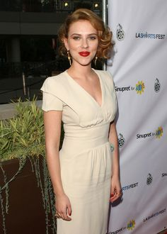 Scarlett Johansson Actress Scarlett Johansson arrives at the Opening Night of LA Shorts Fest '09 held at Laemmle?s Sunset 5 on July 23, 200...