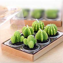 Décoration de la maison Rare Mini Cactus bougies de Table thé lumière jardin Simulation bougie usine de mariage bougies décoratives mignon Velas(China (Mainland))