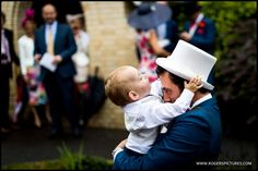 Eddie and Ezra enjoy a Father and Son moment outside church -