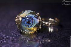 """Купить Кольцо """"Облачный атлас"""" - катерина кудашева, авторские украшения, лэмпворк, кольцо ручной работы"""