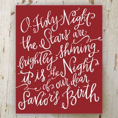 Lindsay Letters for @Holly Mathis | O Holy Night // canvas print