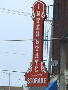 Interstate Storage, since 1928 -    A really nice vintage neon sign in Kansas City KS