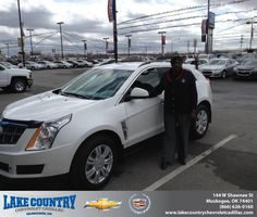 Congratulations to Sharlotte Mcbride on your new car purchase from Lamont Lee at Lake Country Chevrolet Cadillac! #NewCar