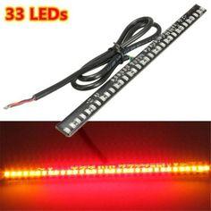 33 LEDs Universal Motorcycle Rear Brake Tail Light Strip Lamp For Honda Suzuki Kawasaki Harley