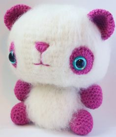 MAKE | Crochet-Along: Fuzzy Panda Amigurumi. I can't wait to make this fuzzy lil guy for my baby!