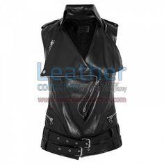 Smart Ladies Leather Vest for $104.30 - https://www.leathercollection.com/en-we/smart-ladies-leather-vest.html