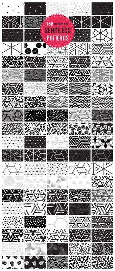 100 universal seamless patterns by softulka on @creativemarket