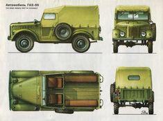 GAZ-69 (1953)   SMCars.Net - Car Blueprints Forum