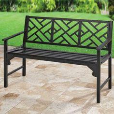BrylaneHome Steel Garden Bench