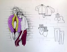 apparel clothing sketches