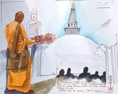 Mihintale - Sri Lanka Stillman&birn # watercolor # aquarelle # sketch # travel journal # carnet de voyage # Sri Lanka