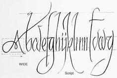 Angular calligraphy, brush