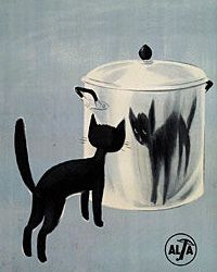 fine-things:    Vintage European Black Cat Poster by artcafe2008