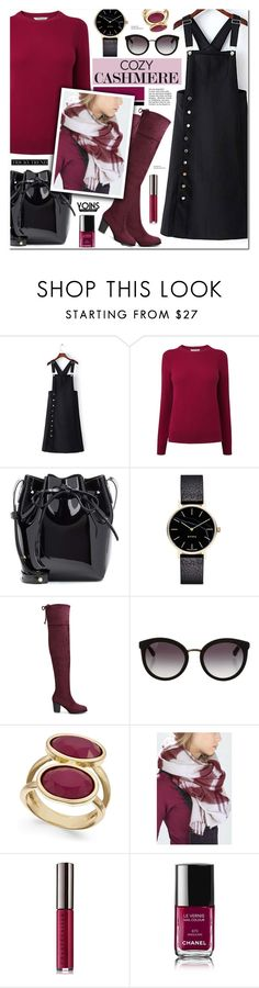"""""""Cozy Cashmere Sweaters - Yoins 17"""" by anyasdesigns ❤ liked on Polyvore featuring L.K.Bennett, Mansur Gavriel, Myku, Dolce&Gabbana, INC International Concepts, Chantecaille and Chanel"""