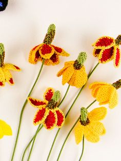 Crochet Mexican Hat Flowers by Carrie Wolf
