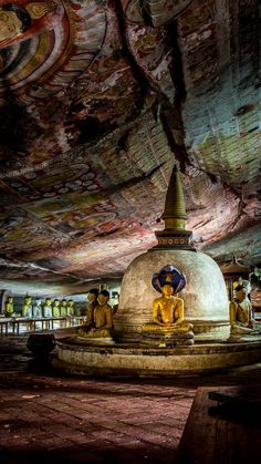 The Dambulla Caves, Sri Lanka