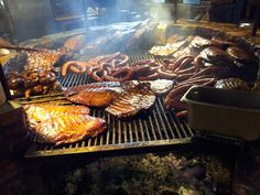 The warming pit at Salt Lick, outside Austin. Always a gorgeous scene!