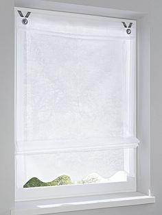 Innovative Aufhängung am Fensterrahmen - ohne Stange, ohne Bohren! Einfach den Rollo anhand der Ösen in die mitgelieferten Edelstahl-Haken einhängen. Für Fenster-Flügelstärke 13-19 mm. Inklusive Edelstahl-Haken, Klebe- Noppen und Anleitung. Blickdicht, aus 100% Baumwolle. Höhe ca. 140 cm....