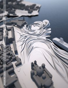 """Marseille Mix  diploma project 2011                    """"Marseille Mix  - synchronization of infrastructural, environmental and cultural flow..."""