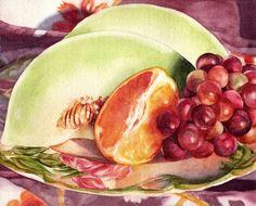 """Kathrine Lemke Waste, """"Fruit Plate"""", 8"""" x 10"""""""