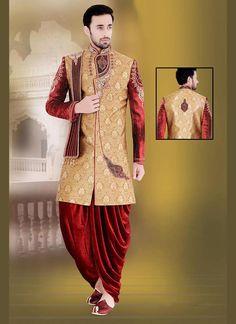 Mens Indostyle Sherwani Indian Bollywood Ethnic Dress Readymade Designer Wedding #tanishifashion